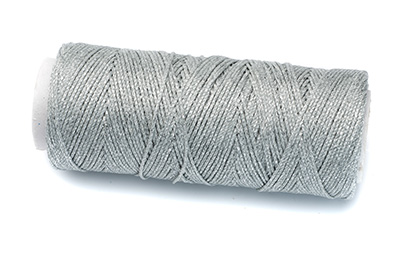 waxed polyester thread silver 100m