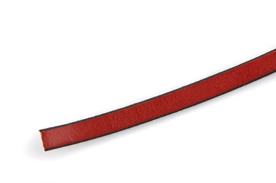 flat leather 6mm red x1m