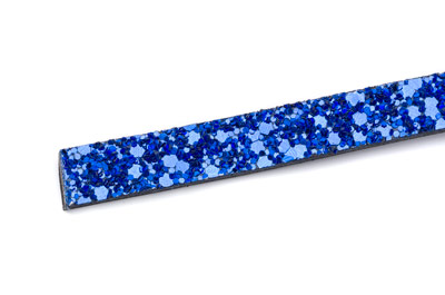 flat band 10mm glitter royal blue x1m