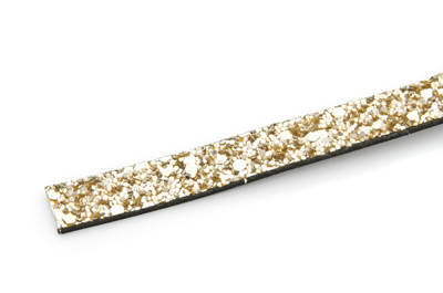 flach Band 10mm glitter gold x1m