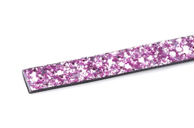 flat band 10mm glitter light pink x1m