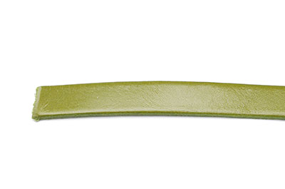 leather flat 10mm olive x1mtr