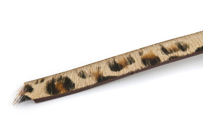 flat leather 10mm hair imitation leopard x1m