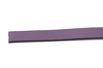 flat leather 10mm purple x1m