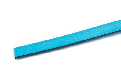 flat leather 10mm turquoise x1m