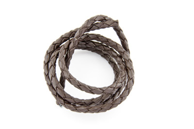 braided leather cord dark brown 3mm x5m