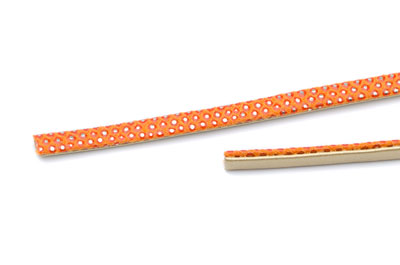 Lanière lezard 5mm orange x1m