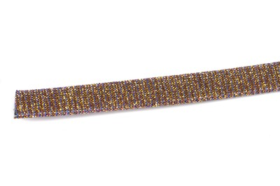 flat band 10mm micro glitter fuchsia golden reflection x1m