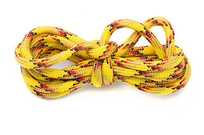 paracord 4mm multi jaune x10m