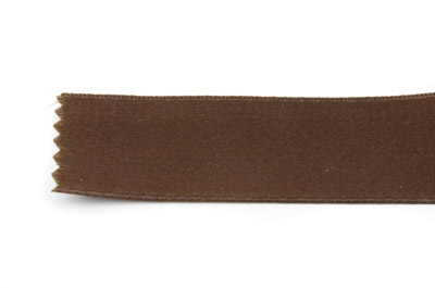 satin ribbon 6mm brown x25m