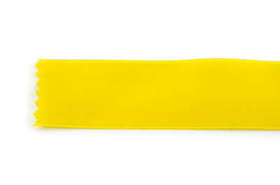 satin ribbon 6mm yellow x25m