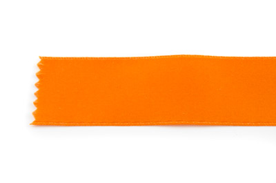 satin ribbon 6mm orange x25m