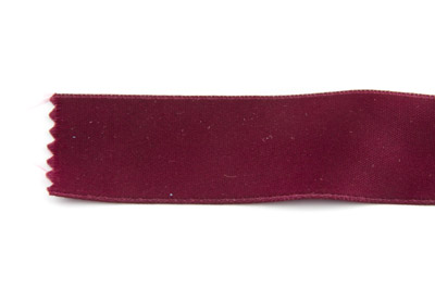 satin ribbon 6mm plum x25m