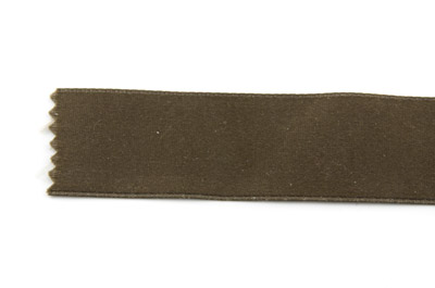 satin ribbon 6mm kaki brown x25m