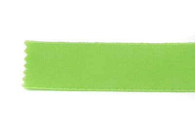 satin ribbon 6mm lemon green x25m