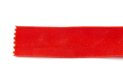 satin ribbon 6mm red x25m