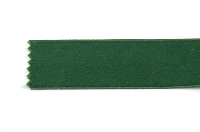 satin ribbon 6mm dark green x25m