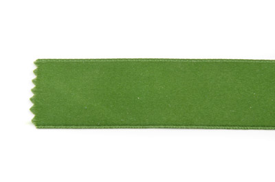 satin ribbon 6mm olive green x25m