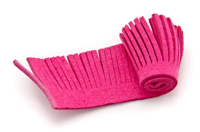 artificial suede weft 28mm fuchsia x1,60m