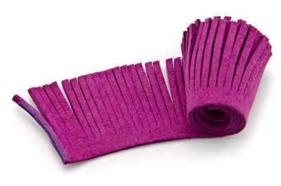 artificial suede weft 28mm purple x1,60m