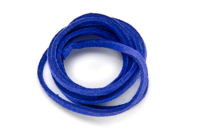 flat suede 3mm electric blue x~30m