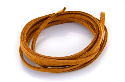 flat suede 3mm camel x~30m