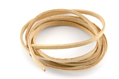 flat suede 3mm natural x~30m