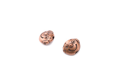 clown 13*10mm 20 pcs copper
