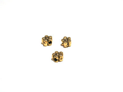 bead golden 5*3mm 100 pcs