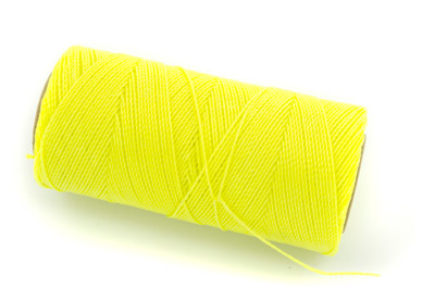 waxed thread fluo yellow x160m