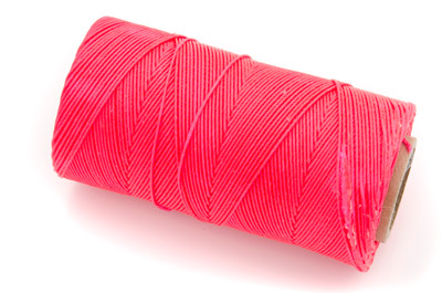 waxed thread fluo red x160m