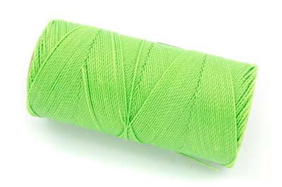 waxed thread fluo green x160m