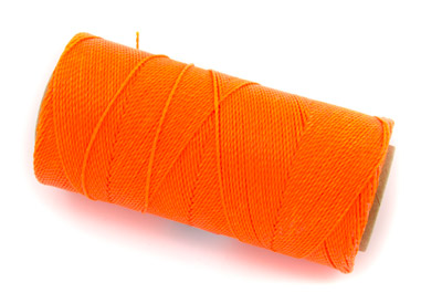 waxed thread fluo orange x160m