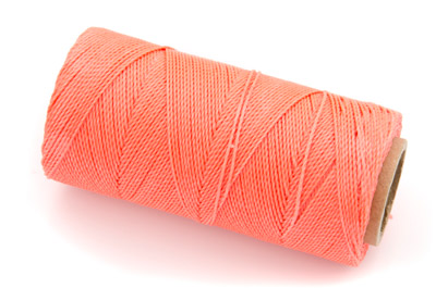 waxed thread coral orange x160m