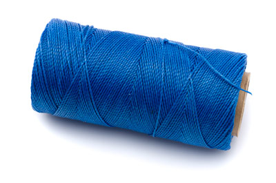 waxed polyester thread electric blue 160m