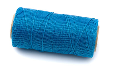 waxed polyester thread lagoonblue 160m