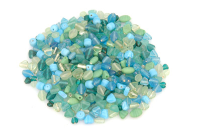 bead mix turquoise/light green 150gr