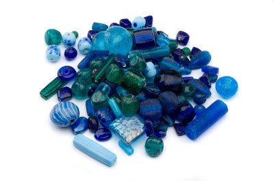 bead mix turquoise, emerald green 400gr