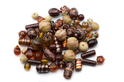 bead mix brown and beige x150gr