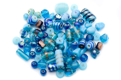 bead mix turquoise x150gr
