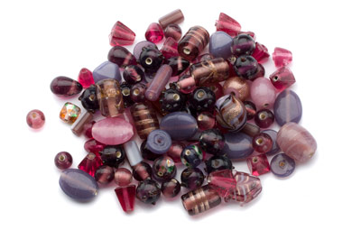 bead mix pink and purple x150gr