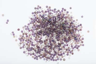bead mix 4mm round lavandel shiny 100gr
