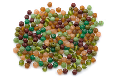 mix round 7mm green topaz 100g