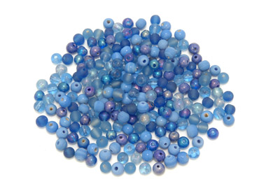 mix ronde 7mm bleu 100g