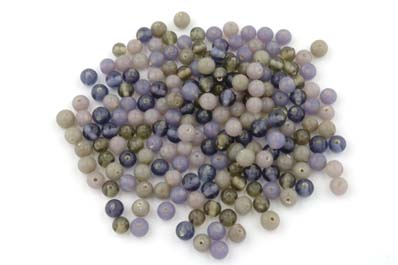 mix ronde 7mm gis mauve 100g