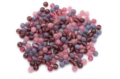 mix ronde 7mm violet rose 100g