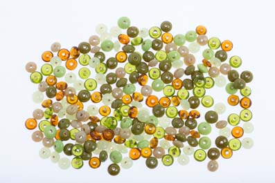 bead mix 8mm saucer topas green shiny 100gr