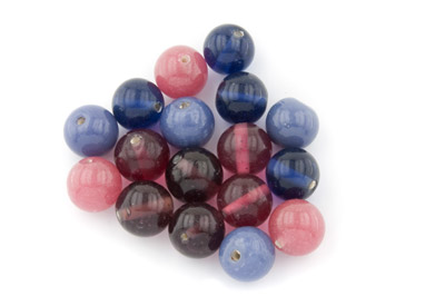 bead mix round 22mm mauve pink 200g