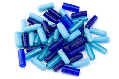 bead mix tube 20x7mm turquoise 100gr