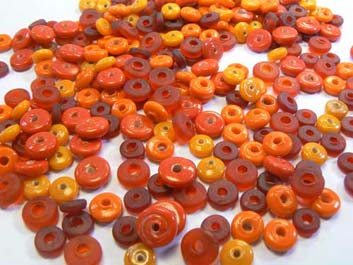 mix rondelles 7mm safran orange 100g